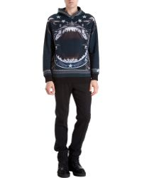 Givenchy Shark Print Hooded Sweatshirt - Lyst