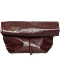 Jil Sander Nuzzi Nappa Leather Lunch Bag Clutch - Lyst