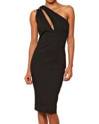 Balmain Asymmetric Stretch Punto Milano Dress - Lyst