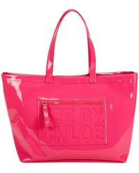 See By Chloé Large Patent Pvc Tote - Lyst