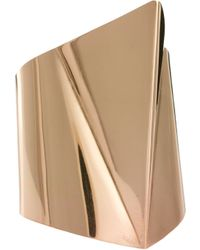 Asos 3d Triangle Cuff Bracelet gold - Lyst