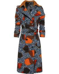 Burberry Prorsum - Printed Cottontwill Trench Coat - Lyst