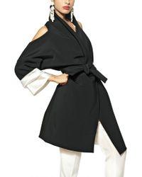 Etro Techno Cady Kimono Coat black - Lyst