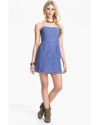 Free People Heart Strapless Lace Dress - Lyst