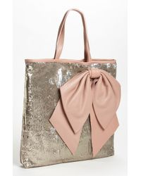 RED Valentino Sequin Bow Tote - Lyst