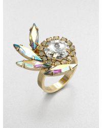 DANNIJO Swarovski Crystal Feather Ring - Lyst
