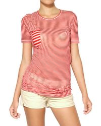 Etoile Isabel Marant Striped Super Light Jersey T-shirt - Lyst