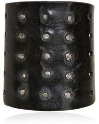 Balmain - Studded Leather Bracelet - Lyst