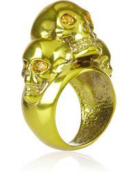 Alexander McQueen Swarovski Crystalembellished Skull Ring - Lyst