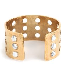 Kelly Wearstler - Howlite Cabochon Perforated Cuff - Lyst