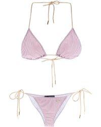 DSquared² Striped Bikini - Lyst