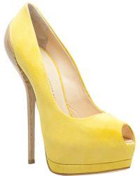 Giuseppe Zanotti Ingrid Fabric Sandal yellow - Lyst