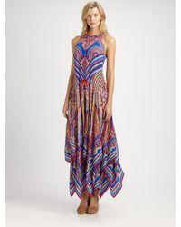 Gottex Silk Linea Dress - Lyst