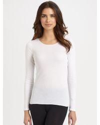 Hanro Cotton Seamless Long-Sleeve Top - Lyst