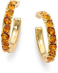 Kenneth Jay Lane Glass Hoop Earrings - Lyst