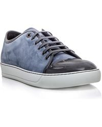 Lanvin Laceup Trainers - Lyst