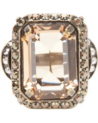 Lanvin Crystal Cocktail Ring gold - Lyst
