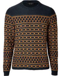 Marc Jacobs - Blue beige Cotton Pullover - Lyst