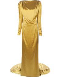 Lanvin Satin Fishtail Gown - Lyst