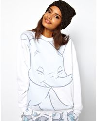 ASOS Collection Asos Sweatshirt with Dumbo Print white - Lyst