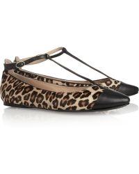 Belle By Sigerson Morrison - Leopard-print Calf Hair Ballet Flats - Lyst