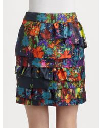 Leifsdottir - Alegrias Tiered Floral Skirt - Lyst