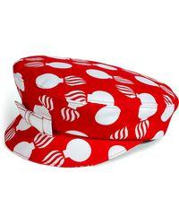 L'Wren Scott Redcream Printed Hat - Lyst