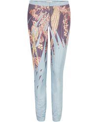 Matthew Williamson Imperial Eagle Liquid Silk Skinny Pant - Lyst