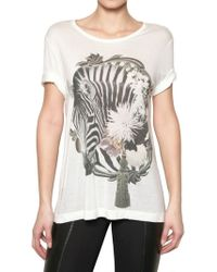 Emma Cook - Printed Jersey Tshirt - Lyst