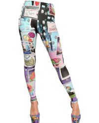 Jeremy Scott - Collage Print Leggings - Lyst