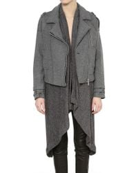 Kai-aakmann - Two in One Cool Wool Knit Coat - Lyst