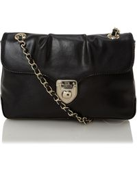 Love Moschino | Lock Leather Shoulder Bag | Lyst
