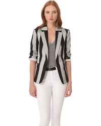 Alice + Olivia Striped Elyse Blazer - Lyst