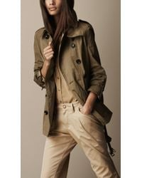 Burberry Brit Short Trench Coat - Lyst