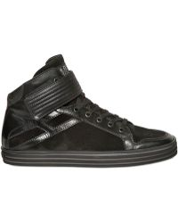 Hogan Rebel - 20mm Leather Suede Basket Trainers - Lyst
