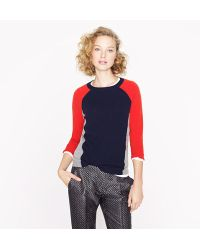 J.Crew Collection Cashmere Colorblock Sweater - Lyst