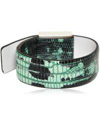 KENZO - Tejus Printed Leather Bracelet - Lyst