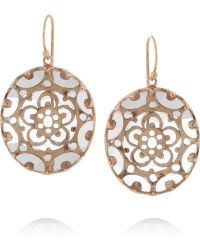 Laurent Gandini - Orecchini Bisanzio 9karat Rose Gold Rock Crystal Earrings - Lyst