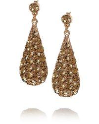 Philippe Audibert Sottoeveste Goldplated Swarovski Crystal Earrings gold - Lyst