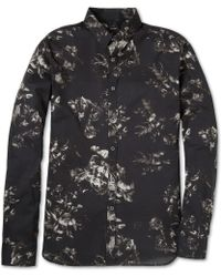 PS by Paul Smith Slimfit Printed Cotton Shirt - Lyst