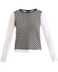 Tibi Sporty Mesh Intarsia Knit Sweater - Lyst