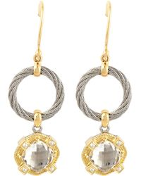 Charriol - White Topaz Drop Earrings - Lyst