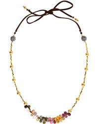 Indulgems - Gold Nugget Necklace - Lyst