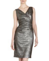 Lafayette 148 New York Minka Crinkled Metallic Dress - Lyst