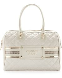 Versace Jeans - Quilted Medium Satchel - Lyst