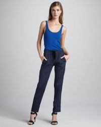 Vince Striped Drawstring Pants - Lyst