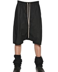 Rick Owens Cotton Poplin Long Rise Shorts - Lyst