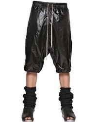 Rick Owens Soft Nylon Basket Shorts - Lyst