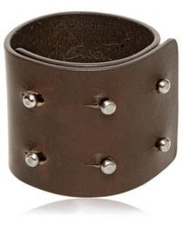 Rick Owens - Leather Cuff Bracelet - Lyst