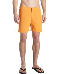 Orlebar Brown Solid Swim Trunks - Lyst